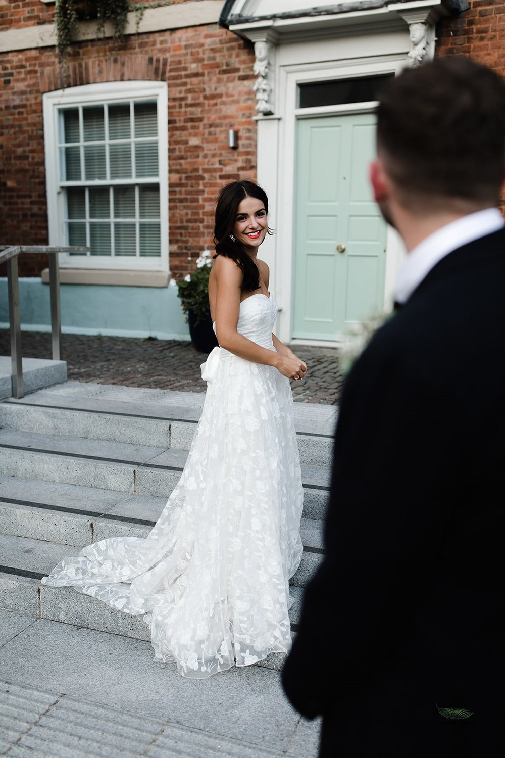 Beautiful bride Emma wore a wedding dress by Halfpenny London