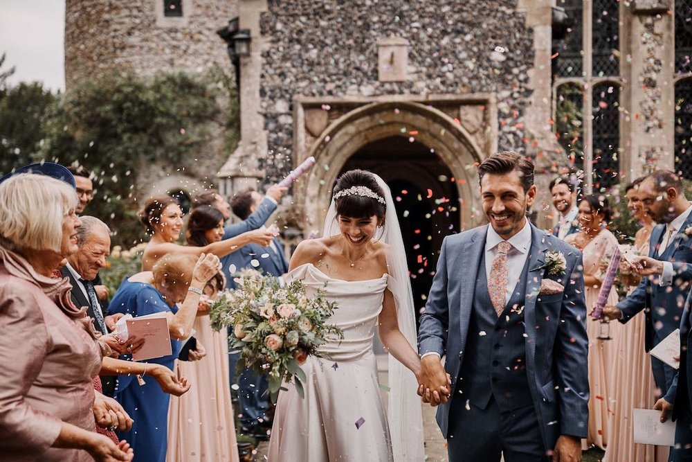 Beautiful bride Stacey wore a wedding dress by Halfpenny London