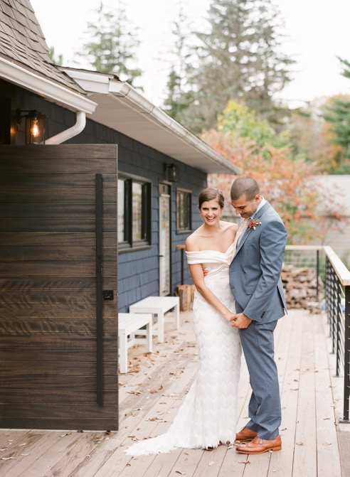 Beautiful bride Hannah wore wedding separates by Halfpenny London