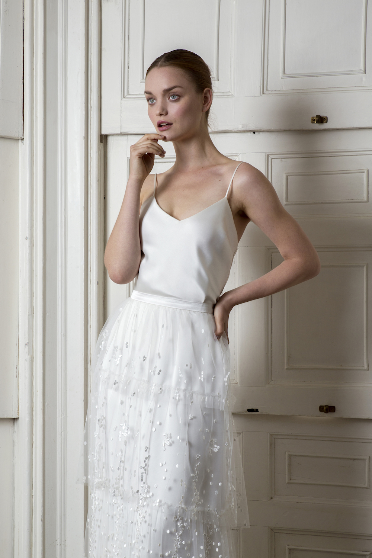 CAMDEN SKIRT & IRIS CAMISOLE | WEDDING DRESS BY HALFPENNY LONDON