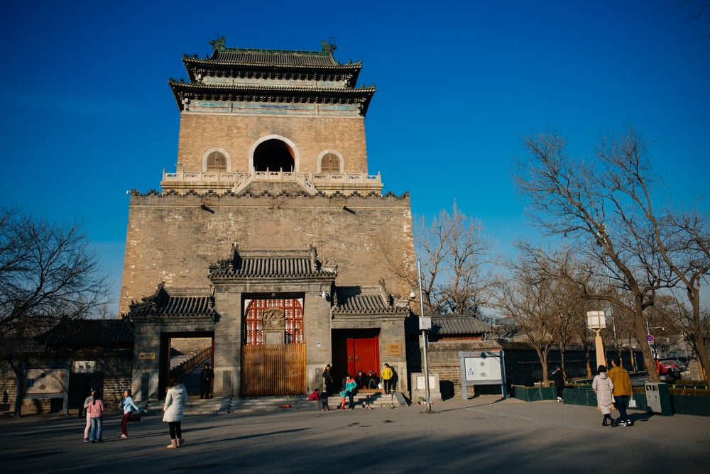 The Bell Tower which was built in 1272 during the reign of Kublai Khan, the first Yuan emperor, was used for time keeping purposes.