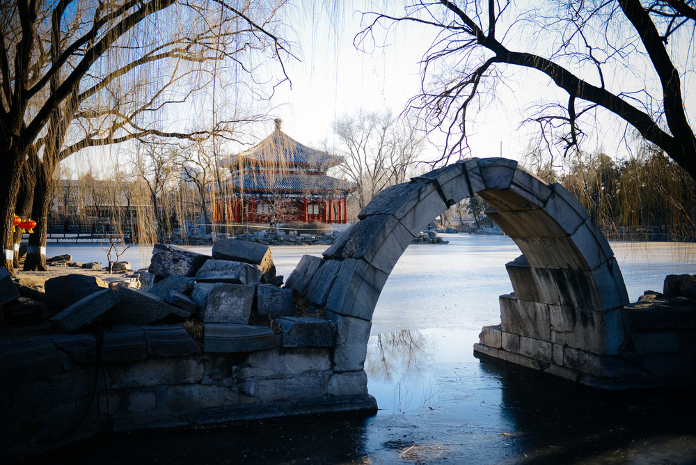 This pavilion and arch are two of the very few structures that remain standing in the site of the Summer Palace. Although very beautiful, the current Summer Palace is a lot smaller than this one and, they say, less beautiful.