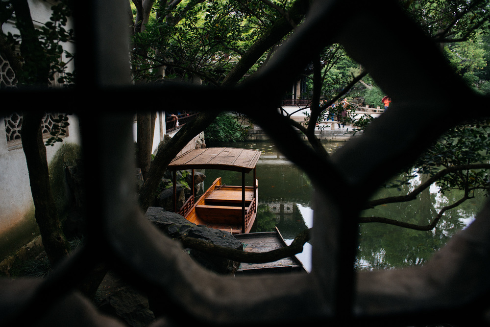 A little boat lies in the corner of one of the man-made ponds. They are so small I don't believe they are for actual rides, but more for cleaning up. Although a few hundred years ago I can see a rich fellow just chilling in the water.