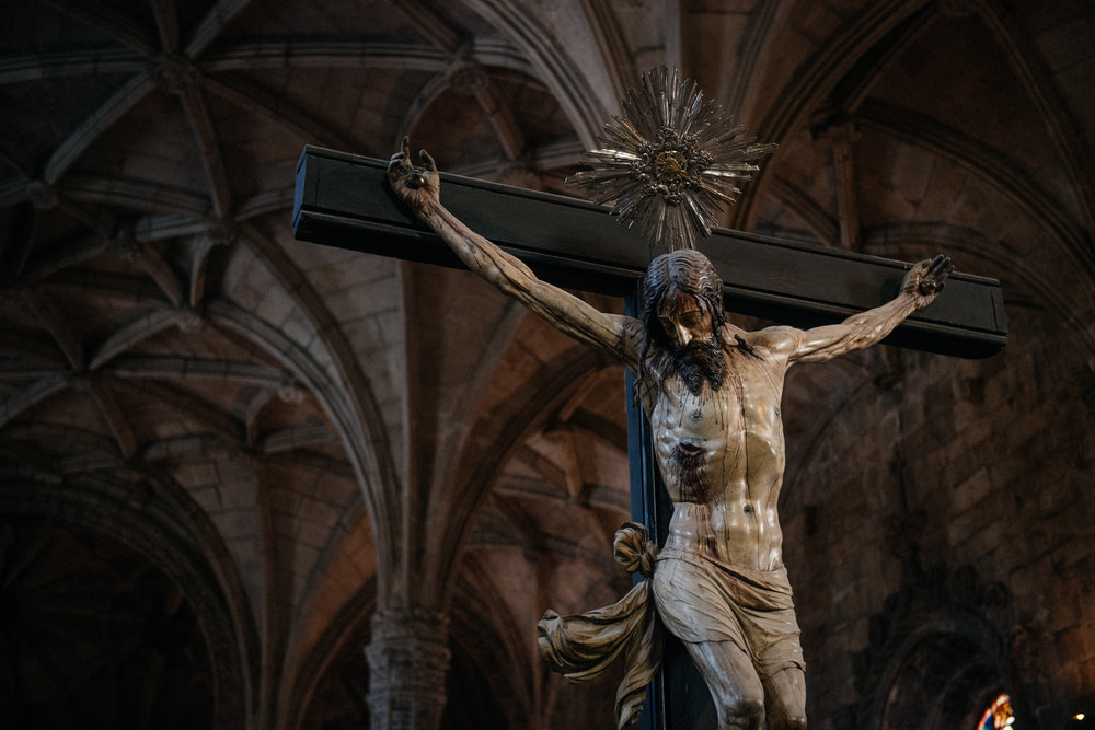 This statue of Christ was sculpted by Filipe de Vries in 1550 and is stunningly realistic.