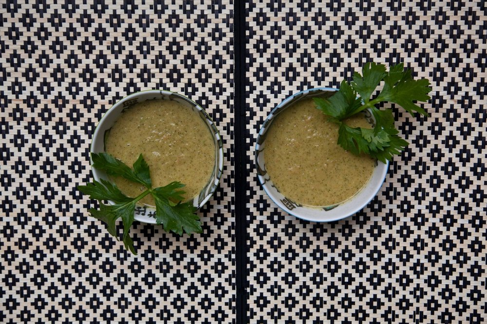 Creamy Broccoli Soup—and it's vegan.