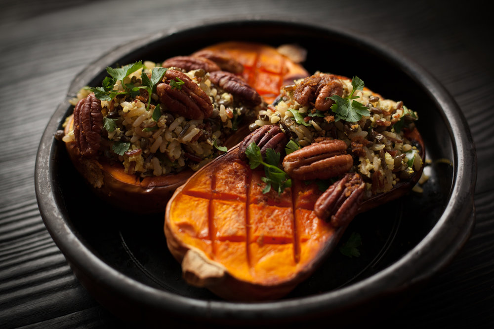 Roasted Butternut Squash With Wild Rice Medley