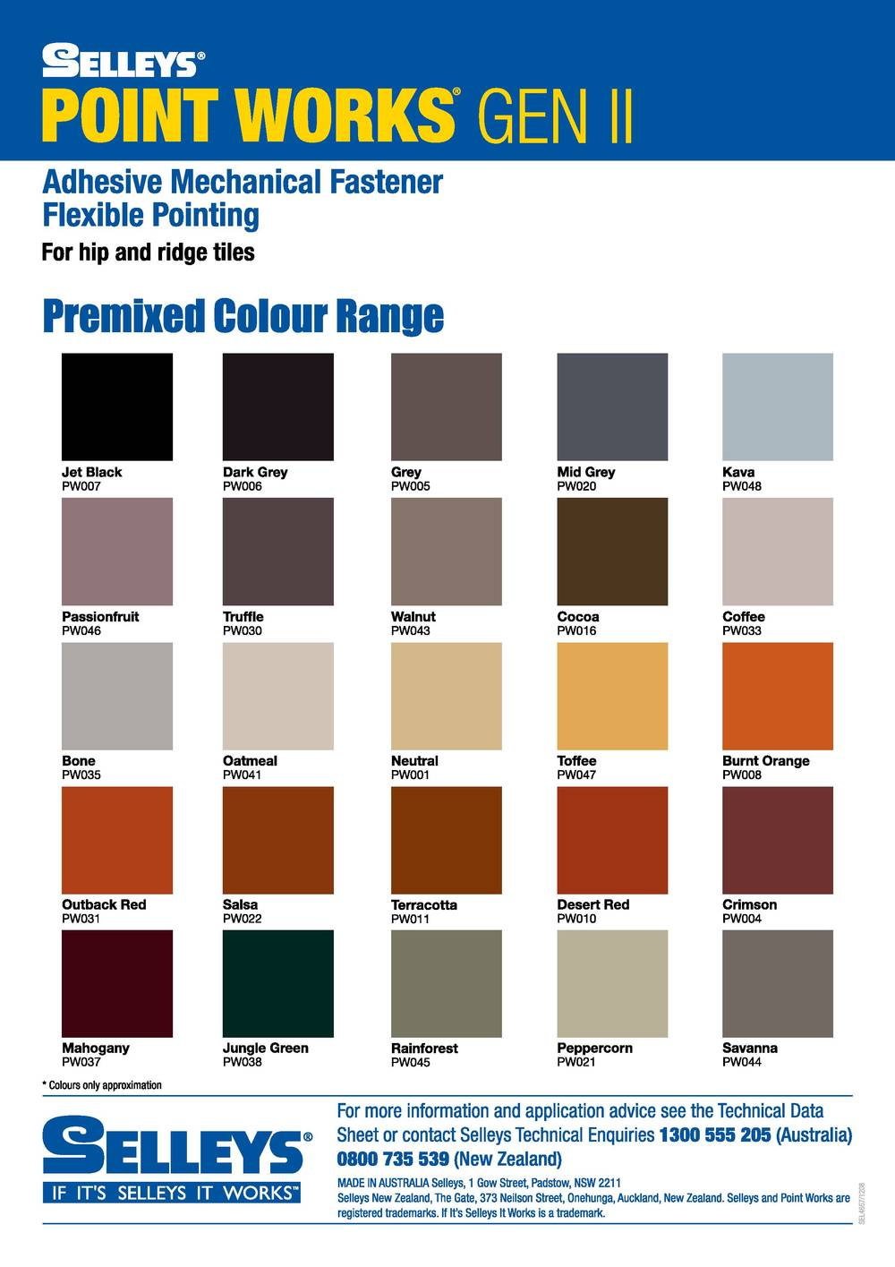 Roofing Component on Mixing Colours