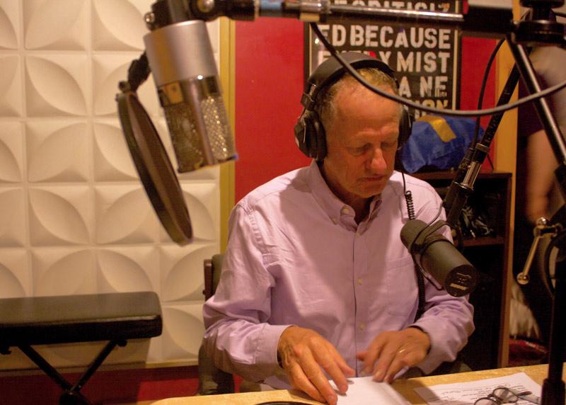 Richard Davies in the studio