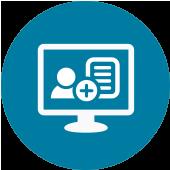 Registrera arbetsorder på t.ex. pc-klient