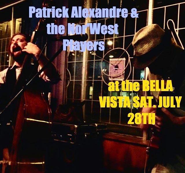 This Saturday! It's our only Winnipeg gig this summer. @jefflaird.drums @bellavistawinnipeg #winnipeglive