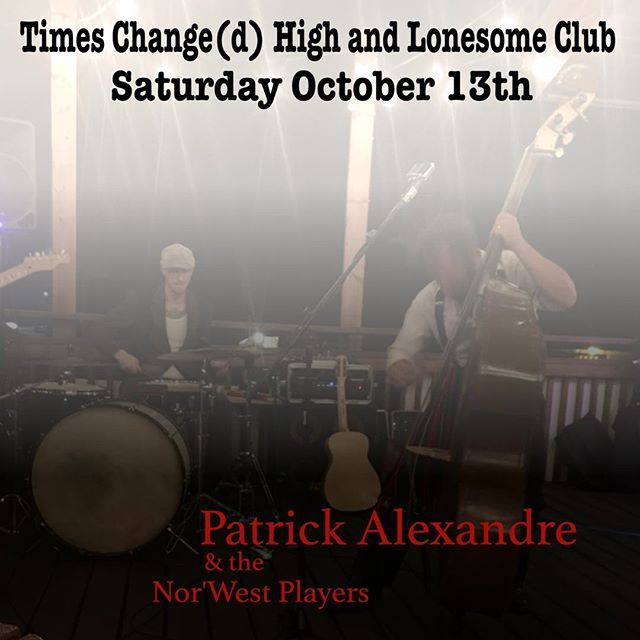 I'm very excited to play the newly renovated Times Changed tomorrow! #timeschangedhighandlonesome @jefflaird.drums @timeschangedwpg