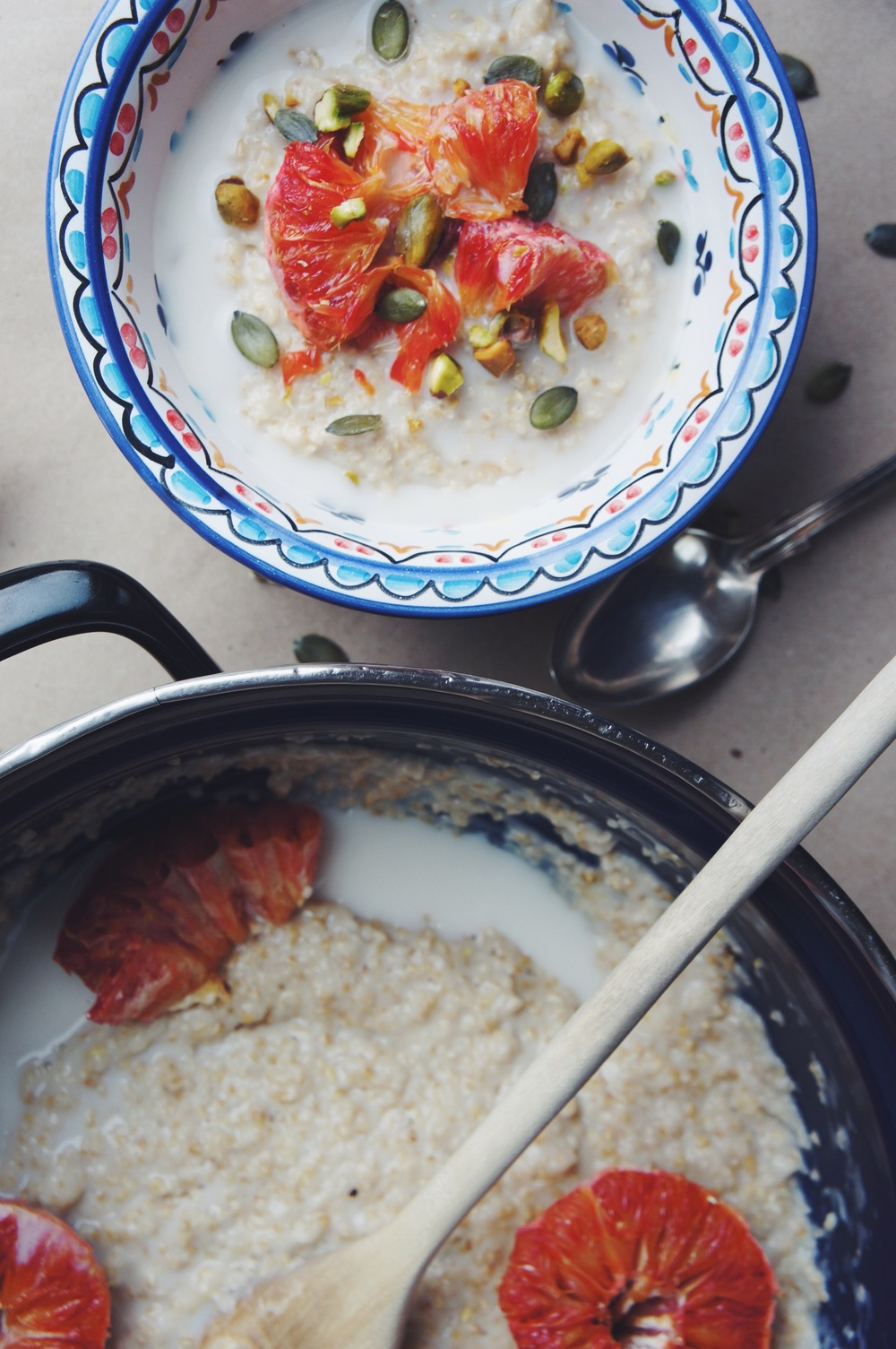Roasted Blood Orange Oatmeal | Thyme & Honey