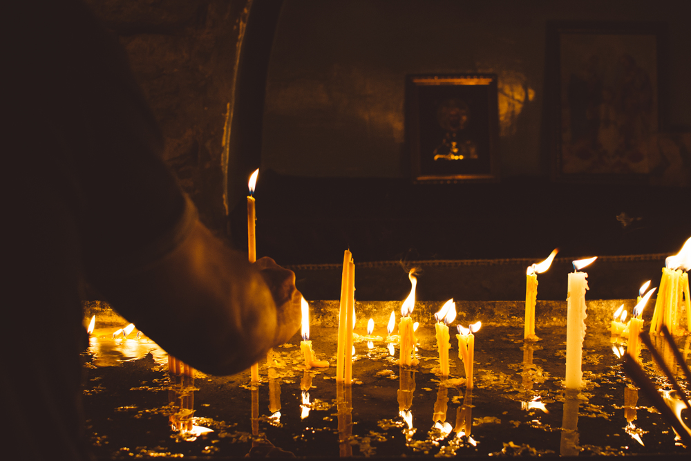 Prayer candles, Khor Virap | Gabriella Simonian ©