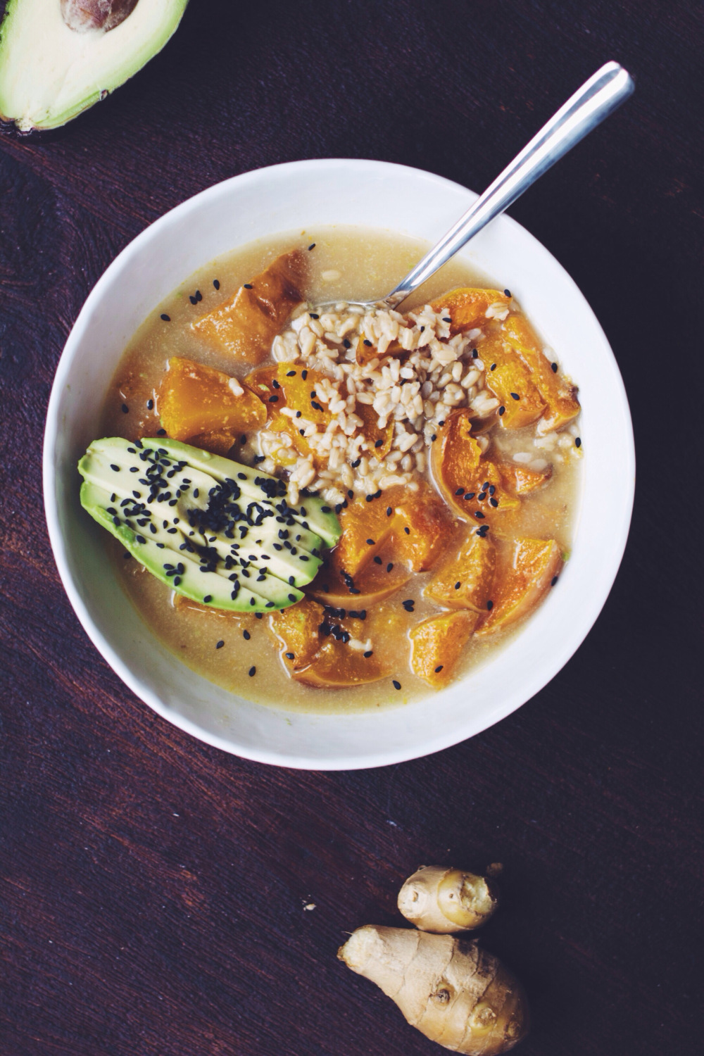 Ginger Miso Tahini Soup | Thyme & Honey