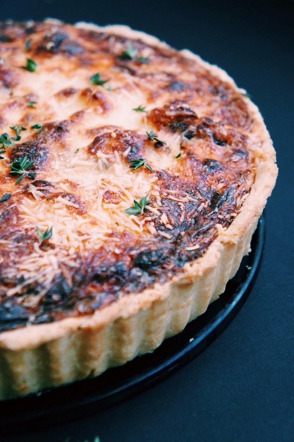 Cauliflower + Caramelised Onion Tart   Thyme & Honey