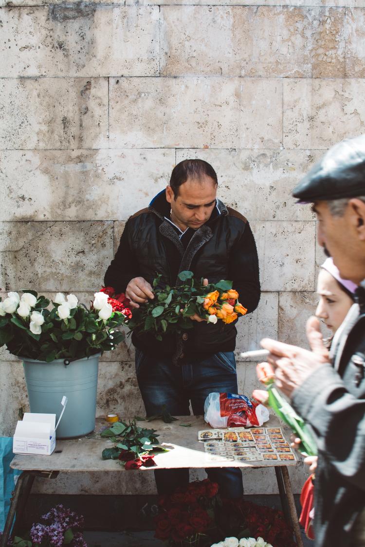 Market seller, Yerevan 2015