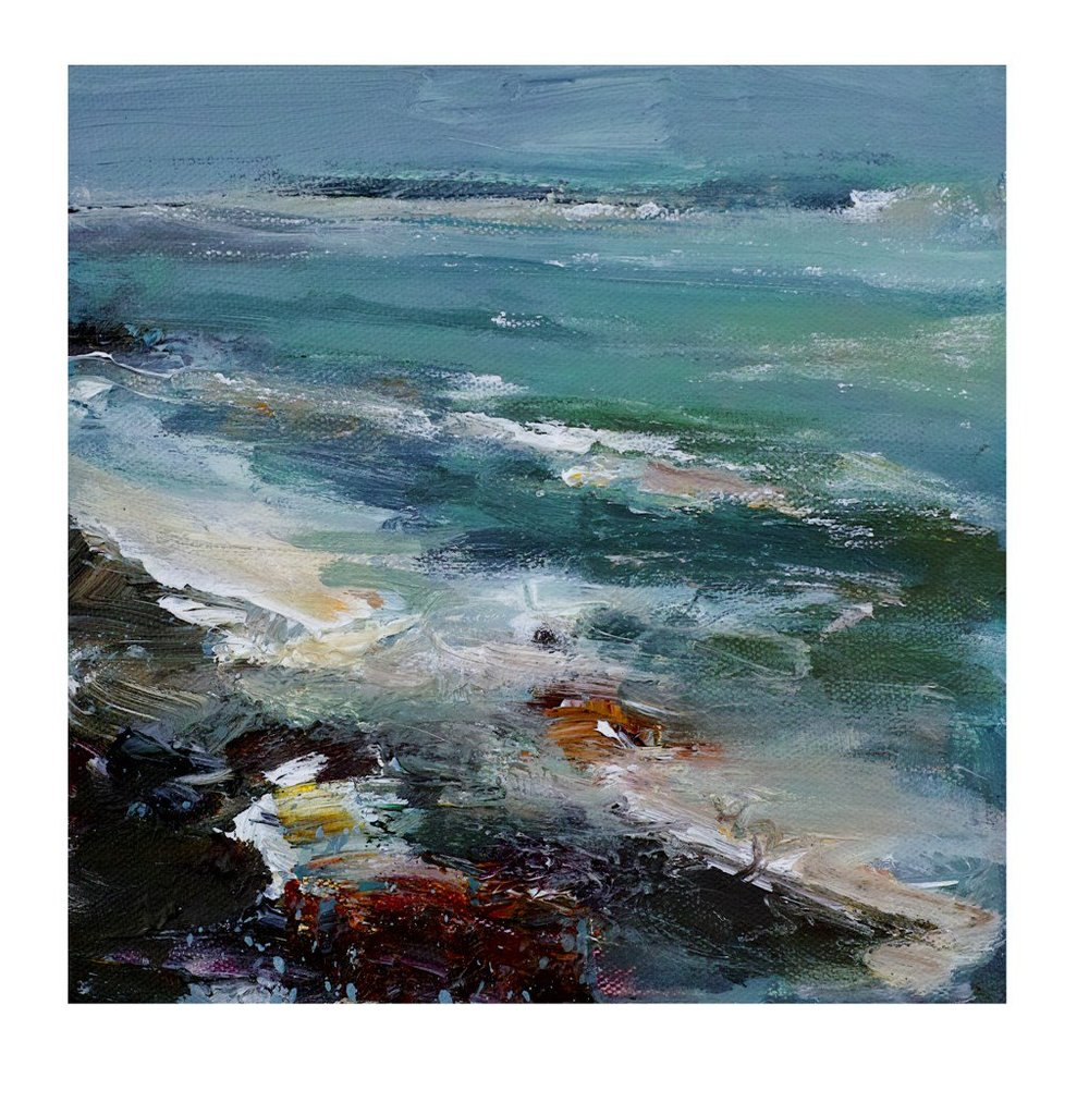 20cm x 20cm Acrylic on Canvas Ebbing Tide Mans Head St Ives £195.jpg