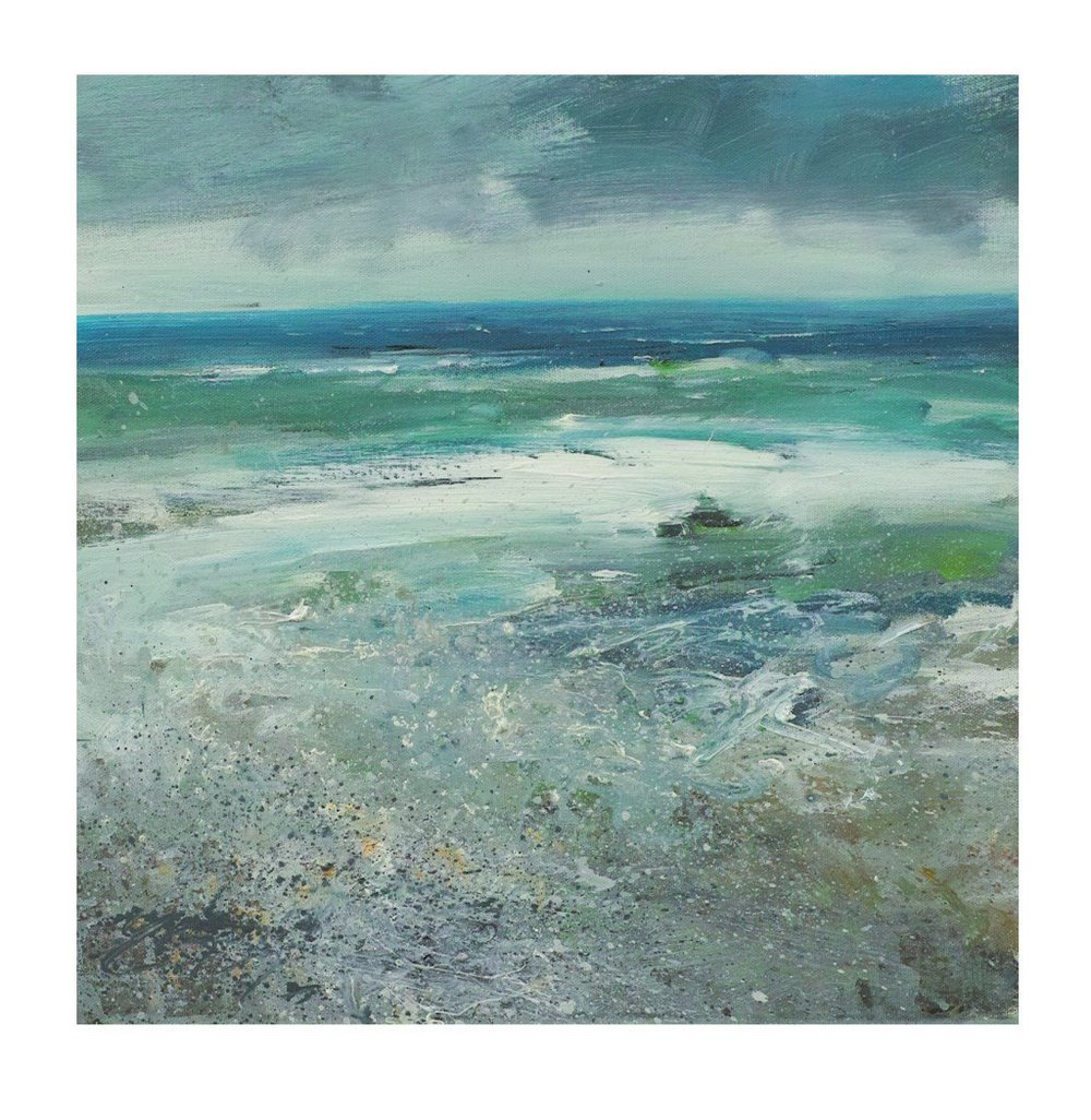 40cm x 40cm Acrylic on Canvas. Breakers Porthmeor Beach £575.jpg