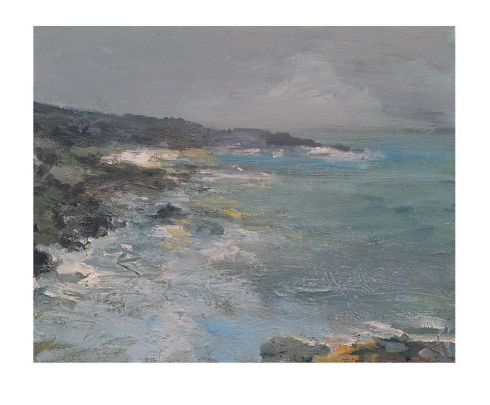 50cm x 40cm Acrylic on Canvas Evening Mist Clodgy Point St Ives £650.JPG