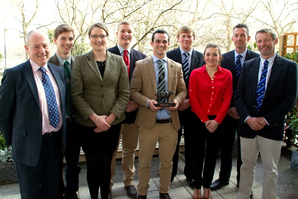 L to R: De Lacy Executive Director John Davies, Andrew Tyrer, Lindsey Carnell, Jack Griffiths, Edward Towers, James Kelso, Hannah Davis and judges Mike King and William Westacott