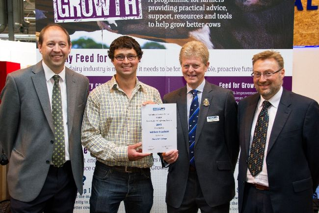 Agricultural winner William Cranfield, Plumpton College