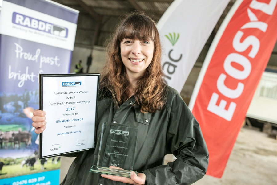 Elizabeth Johnson, agricultural award winner from Newcastle University