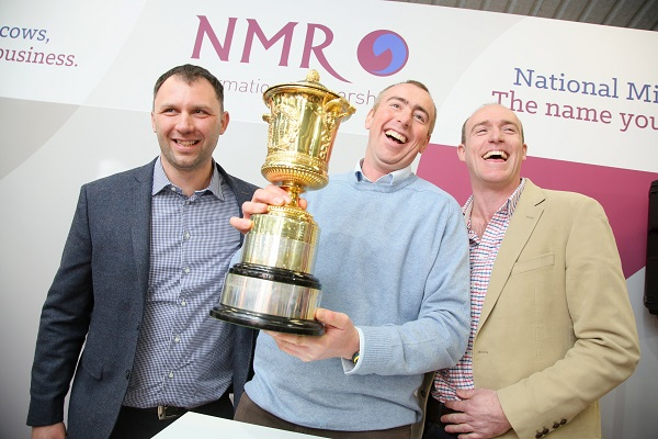 NMR RABDF GOLD CUP WINNERS 2017 from left  - herd manager dairy manager Krisztian Takacs brothers Rich and Chris Norman  1H5B5353.jpg