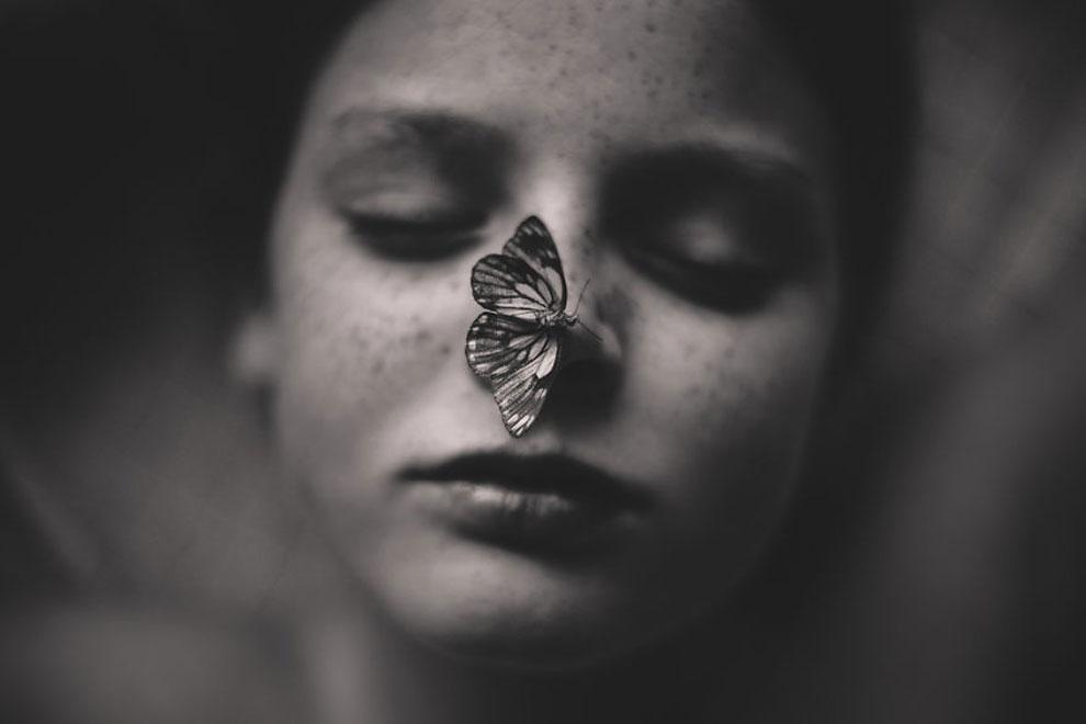 """Прирученная бабочка©Kelly Tyack, Австралия (3 место в категории """"Художественное фото"""", вторая половина конкурса)"""