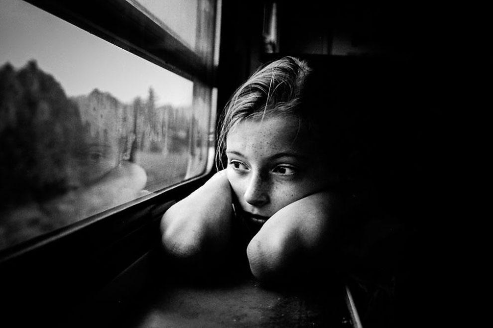 """Долгие путешествия на поезде ©Alicja Brodowicz, Польша (3 место в категории """"Портрет"""", вторая половина конкурса)"""