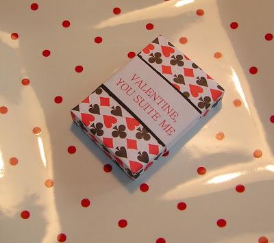 chocolate playing card Valentine box