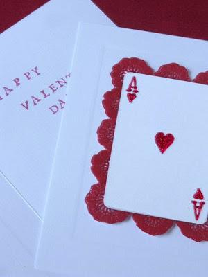 Martha Stewart playing card Valentine