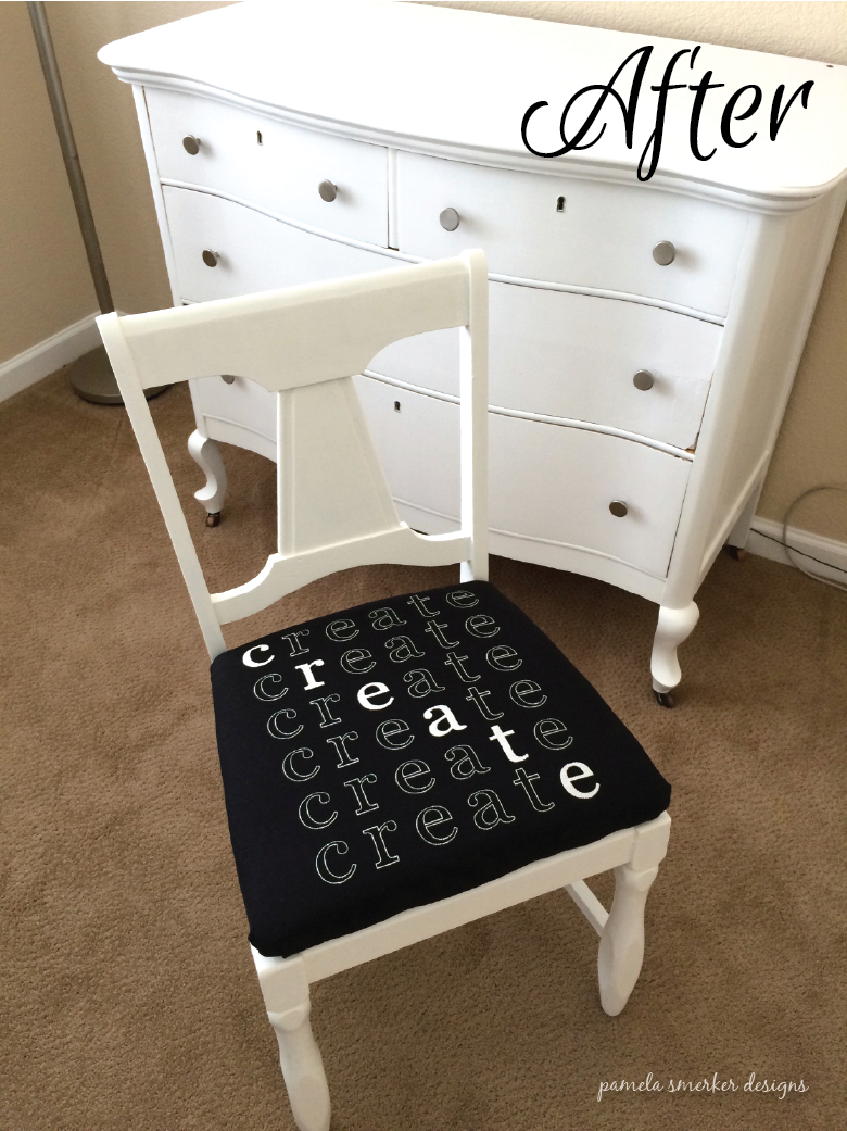 Pamela Smerker Designs Studio Makeover Chair After