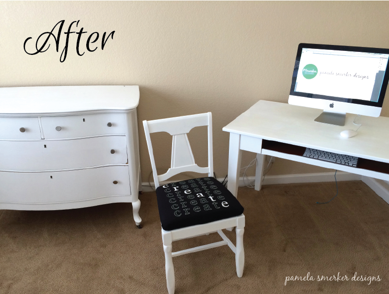 Pamela Smerker Designs Studio Makeover Desk and Dresser After