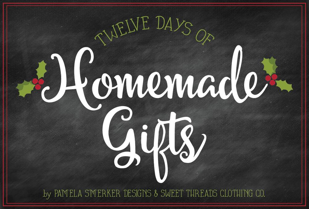 12 Days of Homemade Gifts {No Sew Mini Felt Favor Bags} by Pamela Smerker Designs