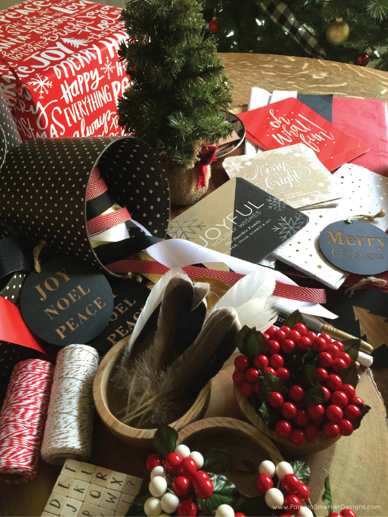 DIY Christmas Gift Wrapping Party by Pamela Smerker Designs