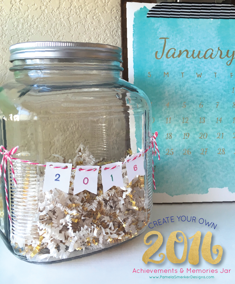 DIY 2016 Memories Jar by Pamela Smerker Designs.