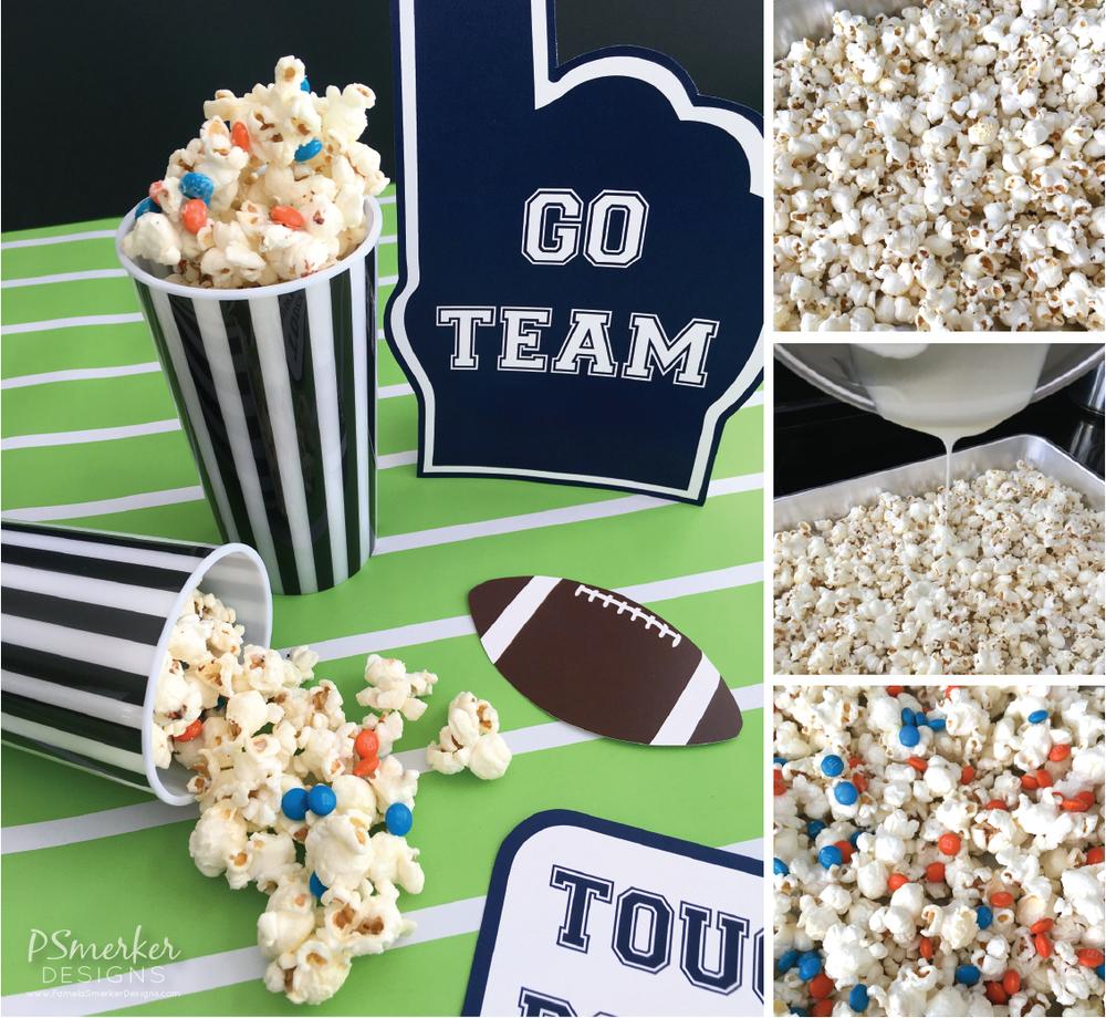 Super Bowl Party Inspiration. Football Crunch Snack Recipe by Pamela Smerker