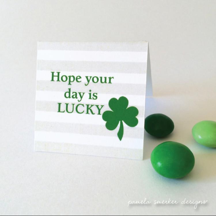 Free printable Lucky Clover Mini Notes by Pamela Smerker Designs
