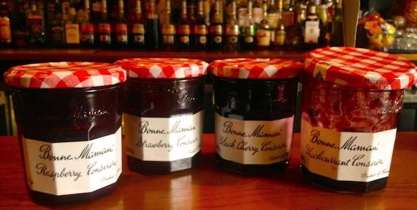Row of jam jars