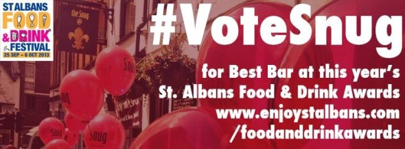 Vote for The Snug at the St Alban's Food and Drink Awards - a poster