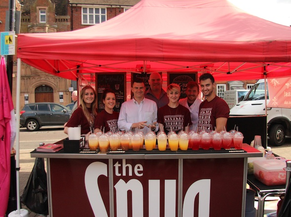 Snug stall at St Albans Food and Drink Festival
