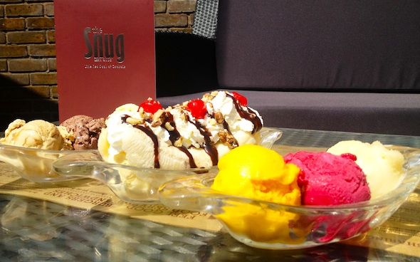 A selection of ice creams at The Snug