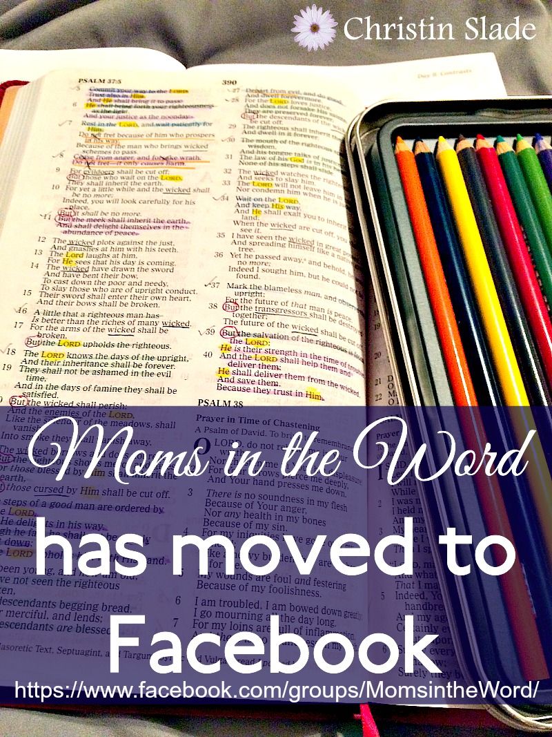 Moms in the Word Moved