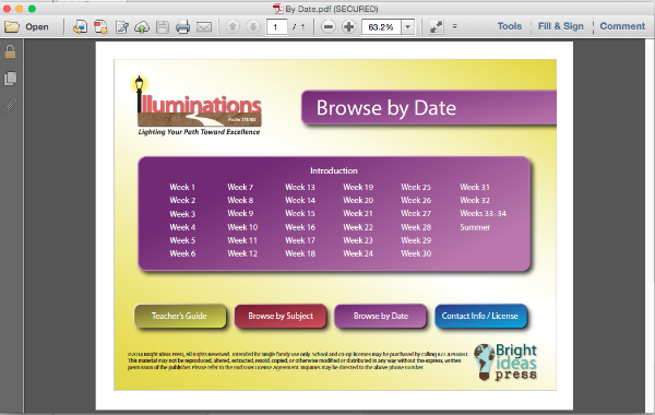 Illuminations Curriculum Interface