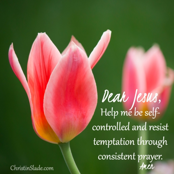 Dear Jesus, Help me be self-controlled and resist temptation through consistent prayer. -Amen
