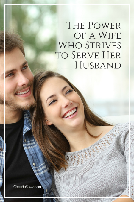 Ladies, you possess an awesome power in your marriage in making your husband feel loved and confident!
