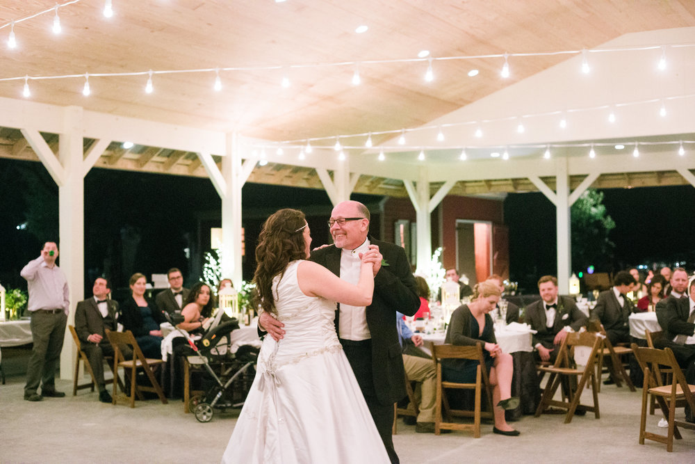 The pavilion offers plenty of space for dinner, dancing and merriment during your wedding reception.