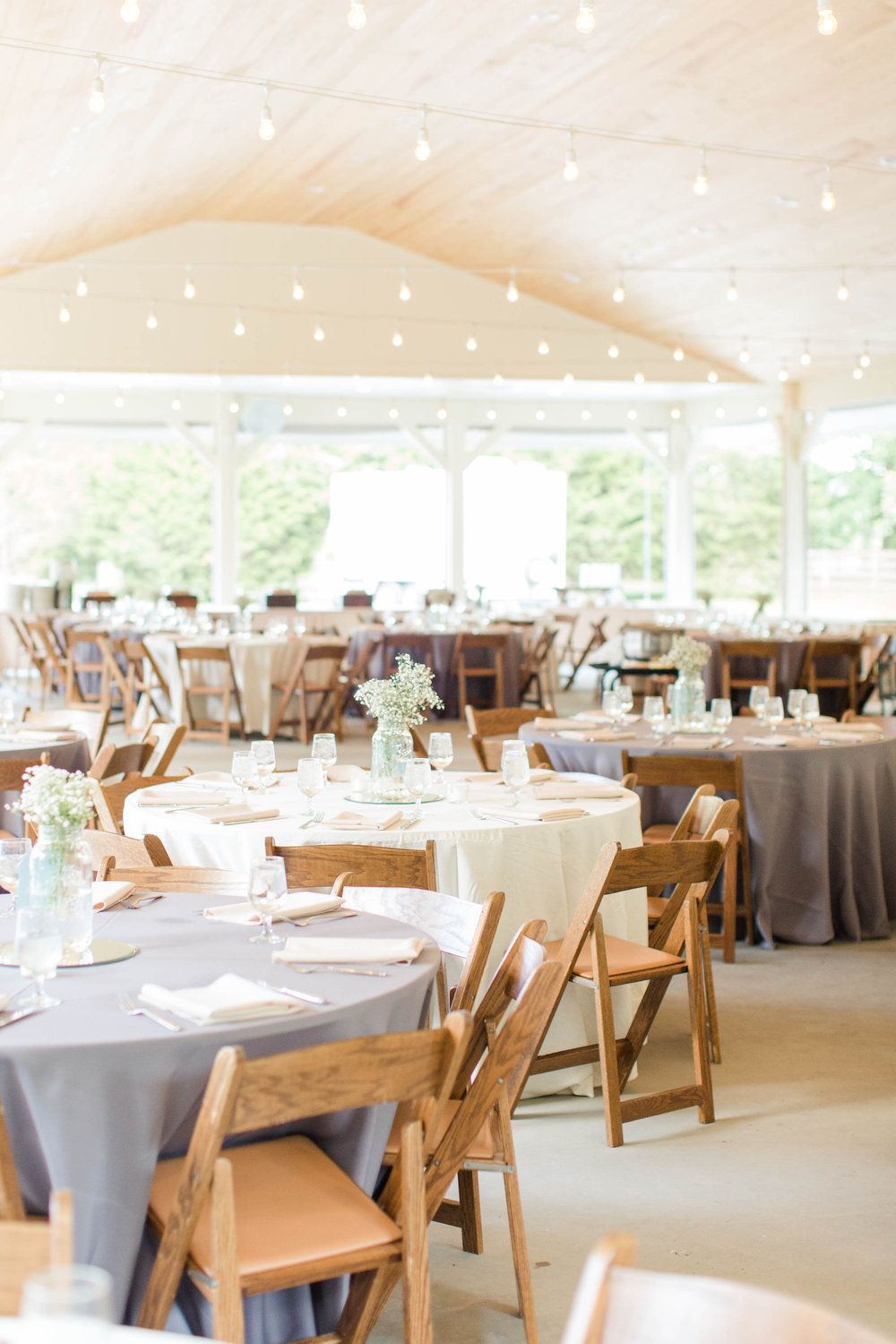 The climate controlled pavilion is the perfect rain or shine reception spot.