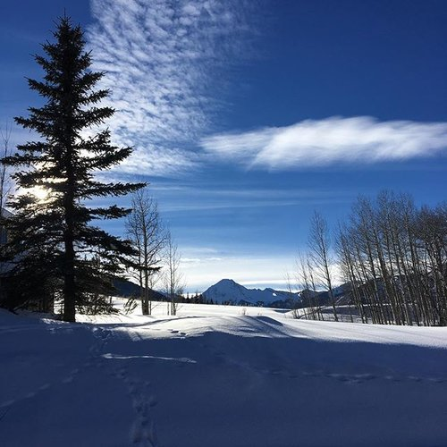 Perfect Bluebird Day For A Snowshoe  E   Mtdaly Clouds Enjoyaspen