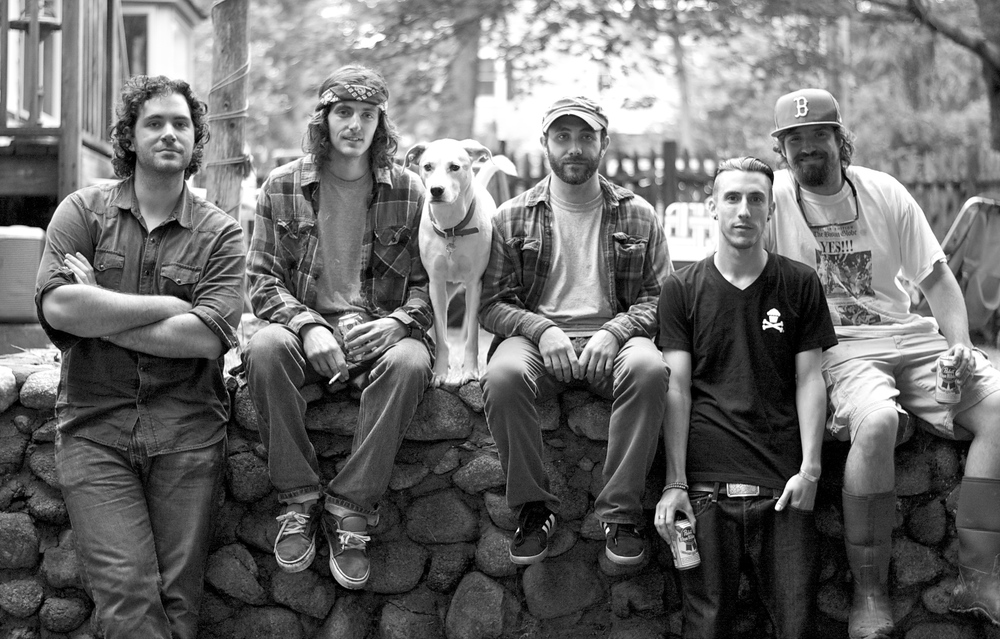 The Chandler Blues Band (with Ziggy Dog), from left to right:
